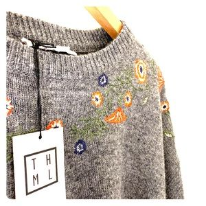 Adorable THML embroidered sweater